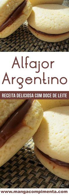Alfajor Argentino - um doce caseiro delicioso dos nossos hermanos! #receita #doce #biscoitos