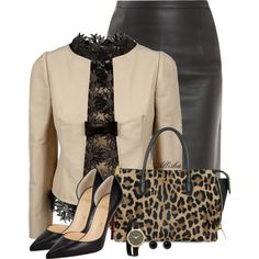 Pencil Skirt, created by allisha-fa on Polyvore