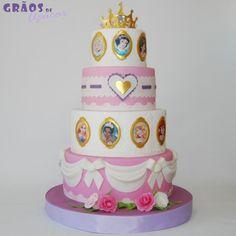 Princesas Disney - Grãos de Açúcar - Bolos decorados - Cake Design