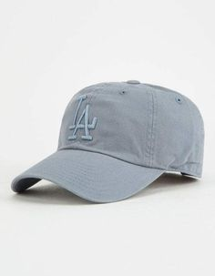 online store 12896 6fbb1 AMERICAN NEEDLE MLB Los Angeles Dodgers Grey Dad Hat - BLUE - 42767A-LAD
