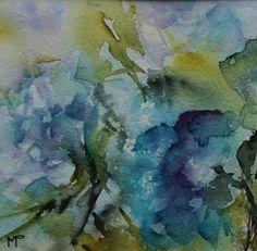 N°71 - Painting, 10x10 cm ©2011 par Véronique Piaser-Moyen - Peinture