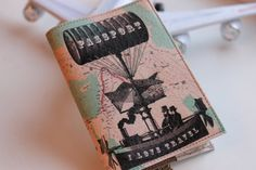 Passport Cover - Passport Case - Passport holder - Leather Travel Wallet - Vacation gift - Black Turquoise Emerald Dirigible I love travel on Etsy, $27.00