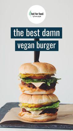 Vegan Burgers, Salmon Burgers, American Food, Plant Based Recipes, Vegetarian Recipes, Veggies, Vegan Sandwiches, Ethnic Recipes, Vegan Food