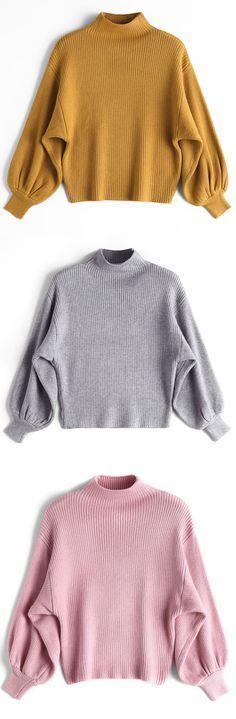 Up to 70% OFF! Lantern Sleeve Mock Neck Sweater. Zaful,zaful.com sweater dress, sweaters&cardigans, sweater,cardigans,choker sweater,chokers,chunky sweater,chunky,cardigans for women, knit, knitted, knitting, knitwear, cardigan, cardigan outfit, women tops, women outfits, blouses, women fashion,winter outfits,winter fashion,fall,fall outfits,fall fashion,autumn outfits,autumn fashion, halloween costumes,halloween,halloween outfits,halloween tops. @zaful Extra 10% OFF Code: ZF2017