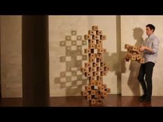 Ghostcube    Erik Åberg wood geometric