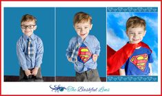 Super Hero Photo Ideas, Clark Kent, Superman, 4 year old, boy, Super hero, Birthday