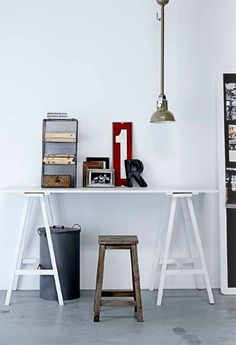 office desk area