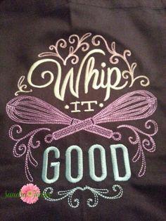 Whip It Good Apron, Novelty kitchen, whisk, apron by SJsFabulousThings on Etsy