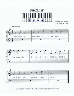 FACE it - learning the treble clef spaces