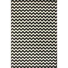 @Overstock.com - nuLOOM Alexa Chevron Vibe Zebra Black/ White Rug (4' x 5'7) - Give any room in your home an instant makeover with these white and black area rugs. The zebra design of these rugs provides a distinctive look that will complement any modern decor. Crafted from polypropylene, these rugs ensure durability.  http://www.overstock.com/Home-Garden/nuLOOM-Alexa-Chevron-Vibe-Zebra-Black-White-Rug-4-x-57/6030953/product.html?CID=214117 $42.18