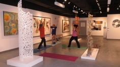 Yoga in Art Galleries - I love to teach yoga with art!