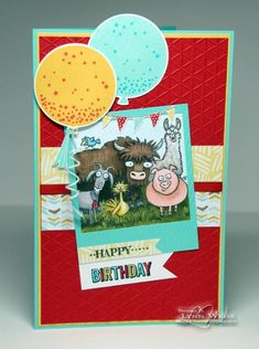 Happy Birthday From the Herd by Crazy4Stampin - Cards and Paper Crafts at Splitcoaststampers