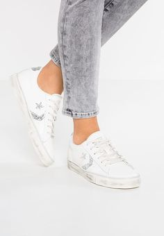 30dab92b1751 Converse PRO LEATHER VULC OX LEATHER DISTRESSED - Baskets basses - white silver  glitter -