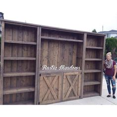 rustic media center diy