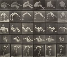 Eadweard J. Muybridge. Jumping; Handspring; Somersault; Springing over a Man's Back: Plate 522 from Animal Locomotion (1887). 1884-86