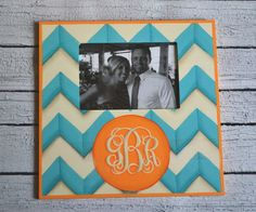 Preppy Hand Painted Picture Frames – Chevron | Stacy Brown Designs