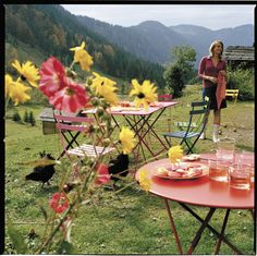Fermob French Folding tables and chairs - take the party anywhere!