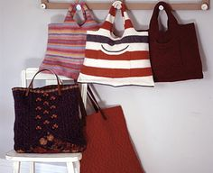 make felted bags  http://www.econesting.com/2010/12/07/diy-gifts-for-the-frugal-eco-fashionista-on-your-holiday-list/