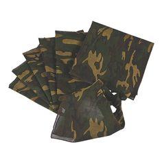 Camouflage Bandanas -   $11 per dozen. OrientalTrading.com #Military
