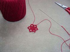 Make basic flower - Needle Tatting Pattern