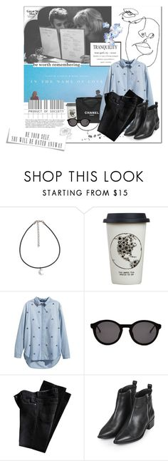 """[055] ""Would you walk in? Would you let me do it first? Do it all in the name of love."" ― Martin Garrix"" by dr-amat ❤ liked on Polyvore featuring Bebe, Natural Life, Chanel, H&M, Thierry Lasry, Topshop, contest, black, denim and contestentry"