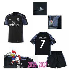 Promo Maillot Du Real Madrid Noir Enfant (RONALDO 7) Third 2016/2017 Thailande