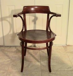 ANTIQUE BENTWOOD ARM SIDE CHAIR GORGEOUS PRESSED PATTERN SEAT THONET ERA STYLE