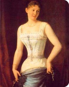 Foi no renascimento que surgiu o corpete. Este afunilava a cintura feminina, onde foi mais evidente pelo acentuado volume das laterais das saias, que direcionavam o olhar para o órgão sexual.