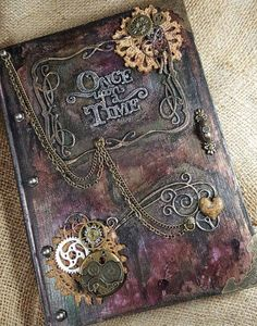 Safari Steampunk Anyone? Steampunk is a rapidly growing subculture of science fiction and fashion. Steam Punk Diy, Steampunk Book, Steampunk Crafts, Steampunk Design, Handmade Journals, Handmade Books, Handmade Notebook, Handmade Art, Book Crafts