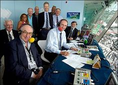 TMS producer Peter Baxter, Henry Blofeld, Shilpa Patel, Vic Marks, Mike Selvey, Christopher Martin-Jenkins, Colin Croft, Tony Cozier, Jonathan Agnew and Bill Frindall gather at Lord's - Test Match Special team.