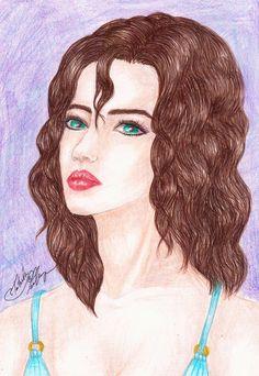 #beautiful #beautifulwoman #blue #blueeyes #blueyes #brownhair #curly #drawing #face #female #girl #glance #handdrawing #illustration #ocean #portrait #sad #tears #violet #woman #art #tatevikart #tatevik_melkumyan #tatevik_art #tatevik_melkumyan_art #beautifulgirl #curlyhair #curlyhairgirl #beautywomenfaces
