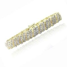 1 CTW Genuine Diamond Tennis Bracelet - $26.00
