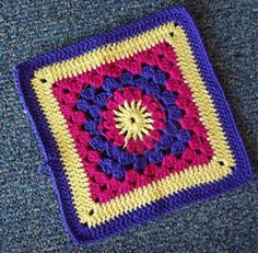 Ravelry Project Gallery For Granny Square 72 Pattern By Carla Bentley Crochet Flower Squares