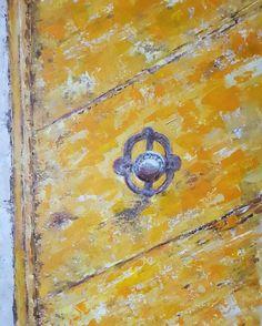 In My Studio... Painting // The door - Peinture figurative.