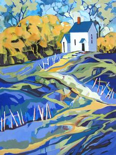 """Carolee S. Clark Painting """"Seclusion"""" 24"""" x 18"""" x 1.5"""" acrylic on wrapped canvas"""