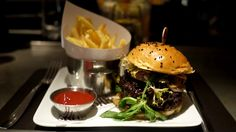 BB Burger at Bar Bouloud. Beef burger, short ribs, foie gras, crispy shallots & horseradish mayo. Unmissable.
