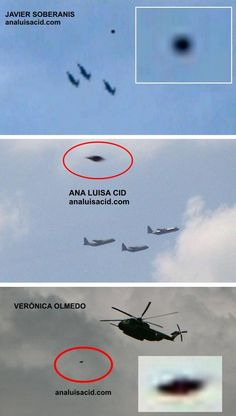 UFO and military aircrafts?...hmmmmmmm makes me think ...Conspiracy...Are they testing them? Sure looks that way!