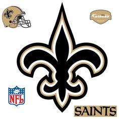 nfl emblem   New Orleans Saints Logo Fathead NFL Wall Graphic