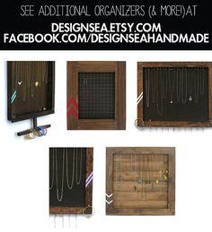 Jewelry Organizer // Necklace Storage Display  // by DesignSea, $78.00