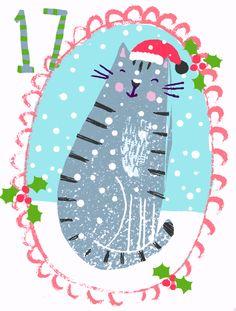 Merry Little Christmas, Christmas Cats, Christmas Greetings, Christmas Time, Advent For Kids, Advent Calendars For Kids, Christmas Crafts For Kids, Christmas Calendar, Christmas Scrapbook