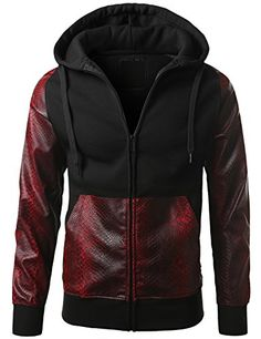 Dope Outfits For Guys, Swag Outfits, Cool Outfits, Leather Hoodie, Joggers Outfit, Mens Attire, Versace Men, Urban Outfits, Hoodie Jacket
