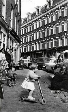 "Amsterdam, 1960. It's scary when I pin a photo taken during my childhood on my ""Vintage"" board..."