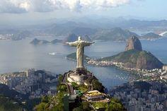 Rio de Janeiro - Cristo Redentor no alto do Morro do Corcovado (Christ the Redeemer on top of Corcovado Mountain) by Celso Rebello Avila, via Flickr