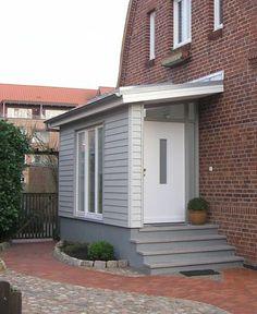 Aida Biermann - Welcome Farmhouse Remodel, Farmhouse Plans, Modern Farmhouse, Front Door Porch, Side Porch, Pictures Of Porches, Sas Entree, Porch Extension, White Farmhouse Exterior