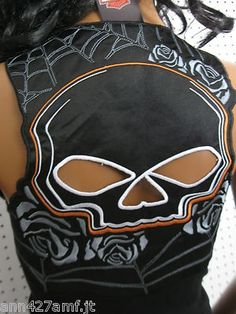http://www.fashiontrendwebsites.com/category/harley-davidson/ wearing a skull with style! Harley Davidson