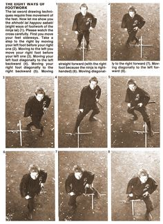 The eight ways of footwork.