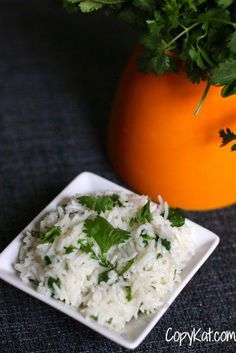 Chipotle basmati rice is a wonderful cilantro and lime rice. Every time you go in there, they are busy preparing their signature dishes. Their rice is honestly, one of our favorite parts of their menu.