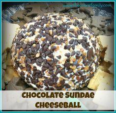 Chocolate Sundae Cheeseball