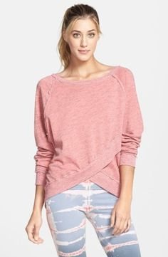 f474b210f93 Frayed seams pick up on the grunge inspiration of a relaxed raglan-sleeve  sweatshirt updated