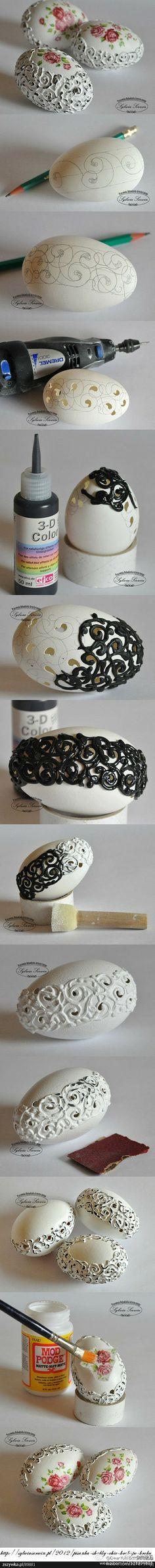 手工DIY 鸡蛋壳艺术品-